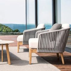 Outdoor Braided & Rope Sofa, for Garden Terrace & Patio, Braided Furniture, Blessy - Outdoor Furniture Shop LUXOX® Balcony Chairs, Balcony Furniture, Modern Outdoor Furniture, Furniture Dolly, Garden Chairs, Balcony Garden, Luxury Furniture, Garden Furniture, Diy Furniture