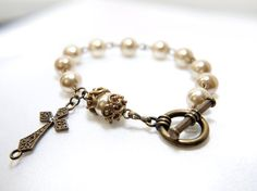 Pearl Rosary Bracelet ... after being confirmed, my elder sister bought me a beautiful bracelet like this....