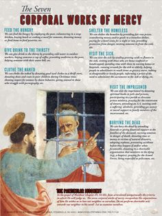 The Seven Corporal Works of Mercy Explained Poster - Catholic to the Max - Online Catholic Store Catholic Theology, Catholic Books, Catholic Religion, Catholic Kids, Catholic Prayers, Catholic Store, Roman Catholic, Catholic Saints, Catholic Traditions