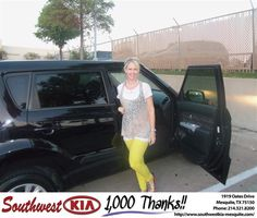 #HappyAnniversary to Krystal Wade on your 2012 #Kia #Soul from Reed Chenault at Southwest Kia Mesquite!