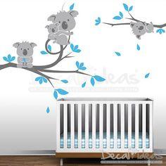 Koala Nursery Wall Decal a great kids room wall decal. Great idea to transform a kids room