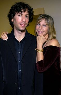 Proud Momma - Barbra Streisand with son, Jason Gould - you can see both Barbara and Elliot Gould in their son...