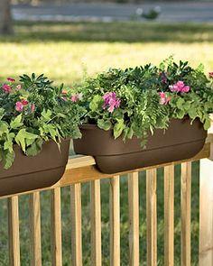porch rail planter boxes