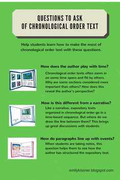 I usually teach chronological order text fairly early in our study of text structures. Students can draw on their understandings of n. Text Structures, Digital Text, Reading Resources, Student Engagement, Questions To Ask, Student Learning, Texts, Students, Classroom