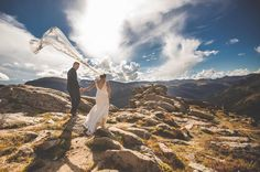 Destination wedding photos from Rocky Mountain National Park.