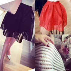 2016 Real New Fashion Women Skirts Summer Retro Elegant Skirt Height Waist Casual Ball Gown Brief Solid Plaid Large Size Saias