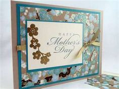 Japanese paper Mothers Day card 1