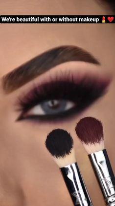 Smoke Eye Makeup, Eye Makeup Art, Eyebrow Makeup, Matte Eye Makeup, Skin Makeup, Eyeshadow Makeup, Makeup Tutorial Eyeliner, Dark Smokey Eye Makeup, Cut Crease Eyeshadow