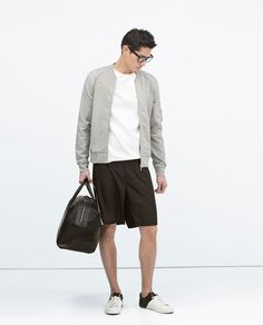 COMBINED SLEEVE BOMBER JACKET