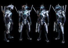 Geth Prime/Hunter – Mass Effect 3 - artwork by Rodrigue Pralier Mass Effect Characters, Mass Effect Games, Mass Effect Art, Character Art, Character Design, Mass Effect Universe, Alien Design, Robot Design, Game Design