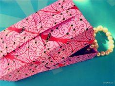 Folding an Origami Christmas Gift Box - YouTube