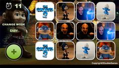 the smurfs 2 video game photos | Free download The Smurfs 2 Memory Game screenshot 2
