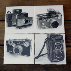 Vintage camera coster set!