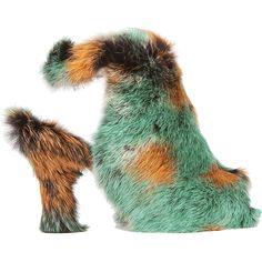 Jeffrey Campbell Lorah Fur Bootie ($236) found on Polyvore