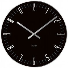 Save The Karlsson Slim Index Clock is a black glass wall clock that makes a fantastically sleek feature in any room. This clock features a stylish design and is crafted out of toughened glass. Big Wall Clocks, Black Clocks, Unique Wall Clocks, Quirky Decor, Wall Clock Online, Tabletop Clocks, Black Mirror, Black Glass, Slime