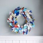 Coronas navideñas recicladas