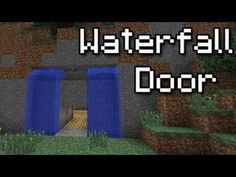 Waterfall Splitter/Secret Door i.e. Batcave Entrance [Minecraft Redstone Tutorials] - YouTube
