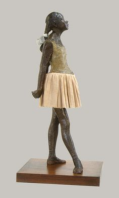 Edgar Degas- The Little Fourteen-Year-Old Dancer, cast in 1922 from a mixed-media sculpture modeled ca. 1879–80, 3 by www.admsp.org, via Flickr  I AM NOT. CRAZY.