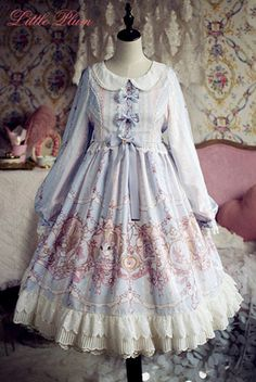 Rabbit Nursery Rhyme Sweet Lolita OP Dress