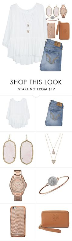 """400!!! what?!?!!"" by isabella813 ❤ liked on Polyvore featuring MANGO, Hollister Co., Kendra Scott, Panacea, FOSSIL, Michael Kors and Tory Burch"