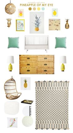 Have you notices pineapples popping up everywhere?  They seem to be a favorite this season, and with summer making its warm appearance, they are the perfect accent, and also pair perfectly with rattan.  Pineapples are a symbol for hospitality and are a natural fit in home decor.  Below are some ideas for incorporating this happy [...]