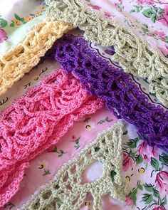 #141 http://www.maggiescrochet.com/lace-edgings-crochet-pattern-p-1105.html#.UQGvUCdX3is Lace Edgings Crochet Pattern- Anything that needs a pretty or lacy edging can benefit from one of the designs in this pattern. The Lace Edgings set includes crochet patterns for the six gorgeous edges shown one hankies and a unique hankie pillowcase. Skill Level: Intermediate.