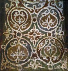 Орнамент Роспись свода в южной башне. Pattern Art, Pattern Design, Art Patterns, Church Interior, Medieval Art, Hand Embroidery Designs, Byzantine, Stencils, Artwork
