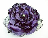 from Our Place to Nest on Etsy Purple Flower Accessory, Hair Clip or Pin, Bridal Sash, Wedding, Maternity Sash, Ornament, Black Friday Etsy