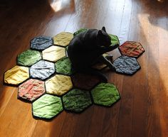 CATAN quilt! omg YES WE CATAN!! hehe