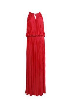bb33c0610ff Anna Molinari- Pleated Amaranth Evening Dress