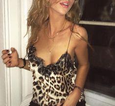 ganni cheetah top