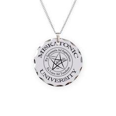 Miskatonic University Necklace Circle Charm