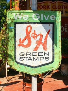 I loved going to the redemption center with my mom and trying to convince her to buy me things with her books of stamps.  We also had Gold Bell Gift Stamps at our local stores.