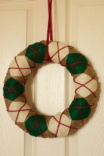 love everyday: Tutorial Thursday: Argyle Wreath