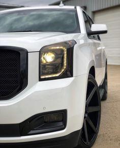 Denali Truck, Range Rover Supercharged, Yukon Denali, Suv Trucks, Expedition Vehicle, Black Wheels, Fancy Cars, Cadillac Escalade, Luxury Suv