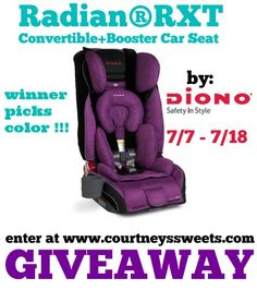 Win a Diono RadianRXT Car Seat at www.courtneyssweets.com