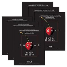 MCS Format Frame 8 by 10Inch Black 6Pack * Click on the image for additional details.