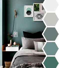 25 Accent Wall Ideas You Surely Want To Try At Home Tags A - bedroom color schemes Zen Bedroom Decor, Bedroom Wall Colors, Bedroom Color Schemes, Bedroom Green, Home Bedroom, Decor Room, Living Room Decor, Bedroom Ideas, Calm Bedroom