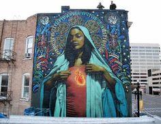 "MAC ART: Mac & Retna mural in Salt Lake City - ""AVE MARIA"""
