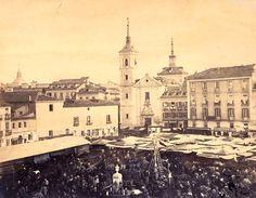 Plaza de la Cebada en 1860