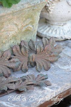 Antique Laurel Leaf Salvage Garniture Cast Iron by edithandevelyn on Etsy