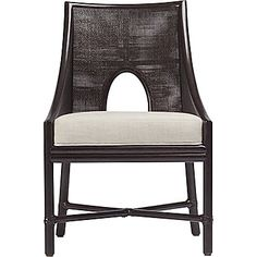 McGuire Furniture: Barbara Barry Petite Caned Arm Chair: M-261