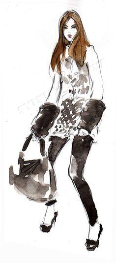 Fashion illustration, Sylvia Baldeva