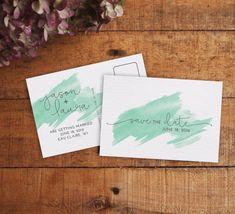 Save the Date, Save the Date Postcard, Printable Save the Date, Watercolor Save…