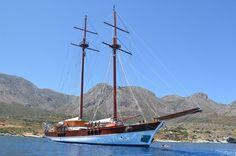 Luxury MATINA - Motor sailer Check more at http://eastmedyachting.co.uk/yachts/matina-motor-sailer/