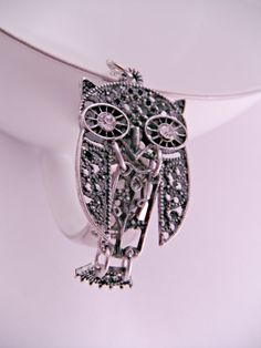 Silver Filigree Owl Necklace Vintage Look with 6 Inch by luv4sams, $20.00
