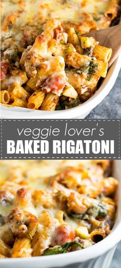 Veggie lover's baked rigatoni - this meatless meal is one of our favorites! Recipes on a budget Veggie Lover's Baked Rigatoni - Build Your Bite Vegetarian Pasta Recipes, Vegetarian Recipes Dinner, Veggie Recipes, Dinner Recipes, Cooking Recipes, Healthy Recipes, Dinner Ideas, Veggie Bake, Ovo Vegetarian