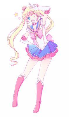 セーラームーン / 月野うさぎ Sailor Moon / Usagi Tsukino by じじ山 - Sailor Moon fan art Sailor Chibi Moon, Arte Sailor Moon, Sailor Moon Fan Art, Sailor Jupiter, Sailor Moom, Cristal Sailor Moon, Sailor Moon Crystal, Sailor Mercury, Sailor Scouts