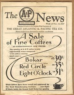 A&P News from 1927