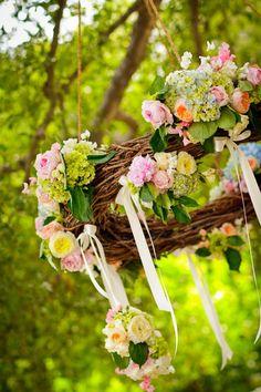 Gorgeous floral chandelier!
